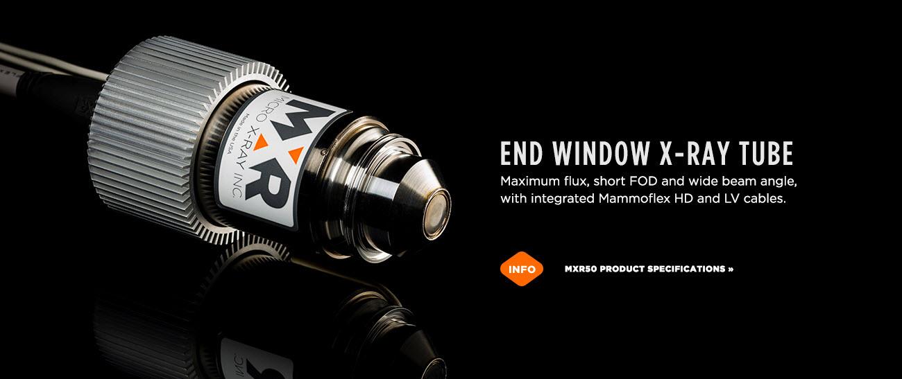 MXR50 End Window X-RAY Tube - Micro X-Ray